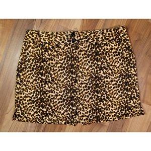 Leopard pocketed skort skirt shorts animal print